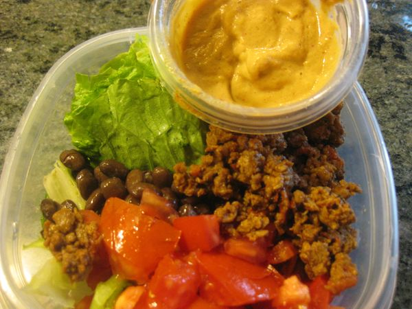 Long Life: As Promised, My New Favorite Recipe - Two Bean Taco Salad ...