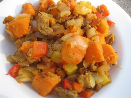Sweet Potato Italian %22Sausage%22 Hash