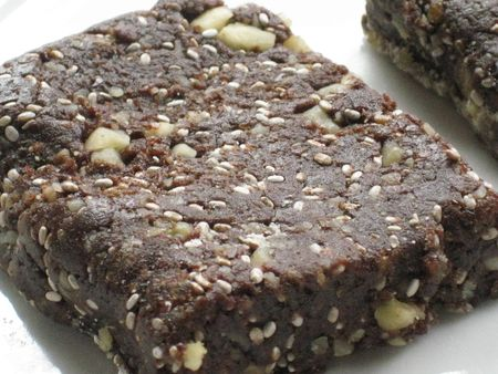 Chocolate chia walnut bar