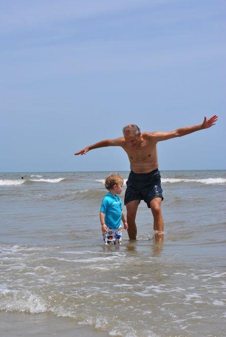 Poppy & Little Man on Beach