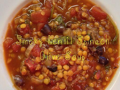 Smoky Lentil Spinach Soup