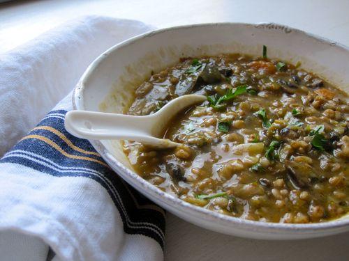 Susan's Mushroom Barley Soup