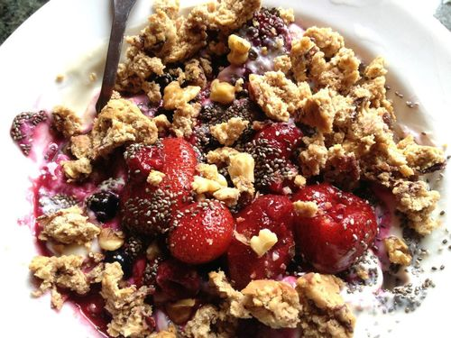 Soy Yogurt with Berries & Heart Thrive